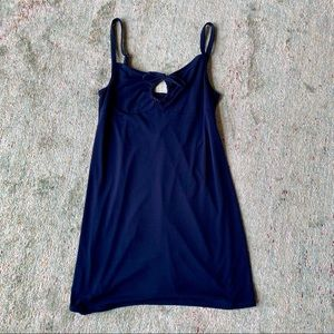 Navy Blue Swim Coverup Dress